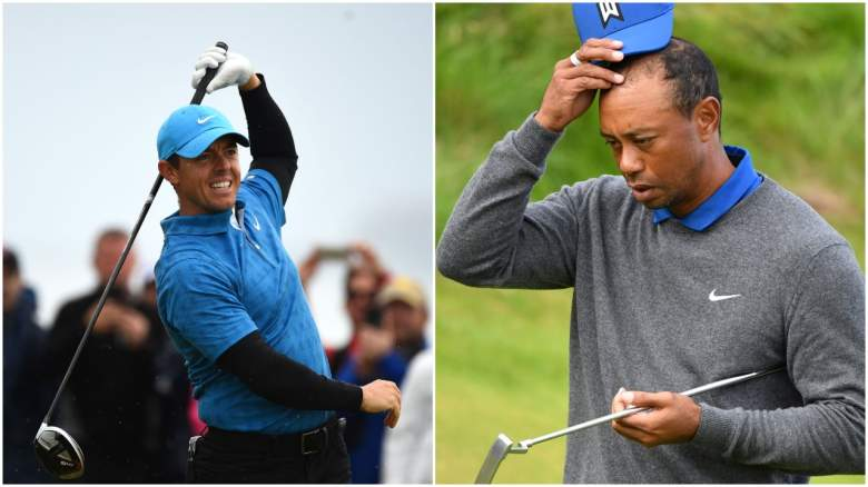 Royal Portrush got the best of Rory McIlroy and Tiger Woods during the first round of the Open Championship.
