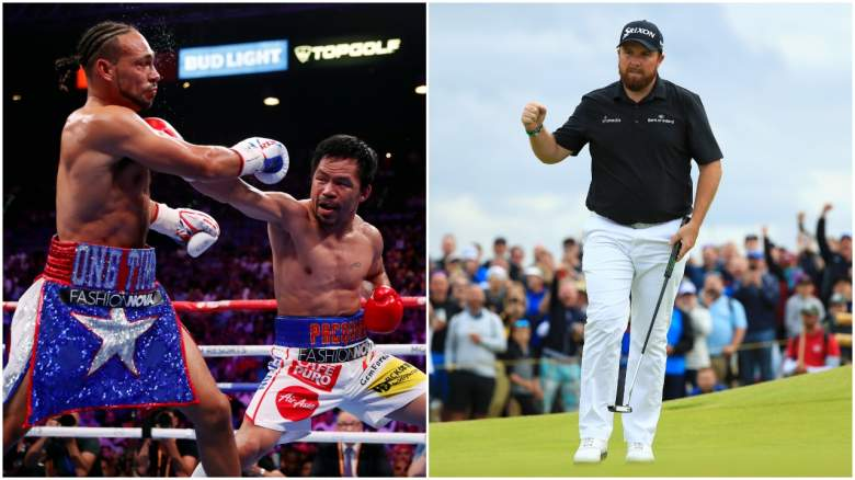 Topping Saturday's sports headlines, Manny Pacquiao proves he's still got it and Irishman Shane Lowry is on the brink of a career-defining win at the Open Championship.