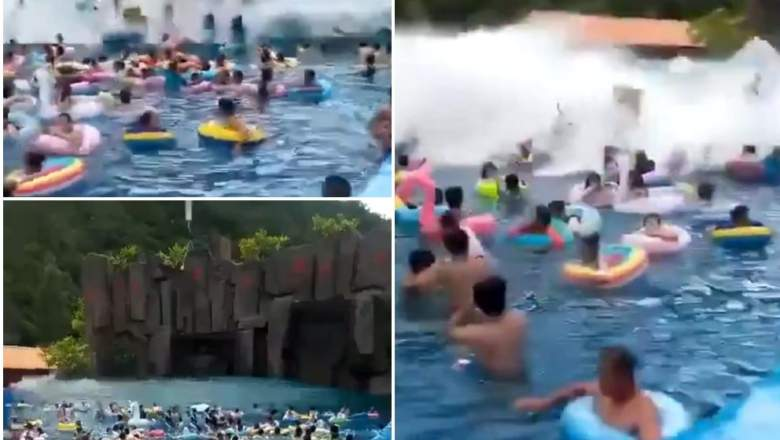 WATCH: Chinese Wave Pool Turns into Tsunami Pool, Injures Dozens