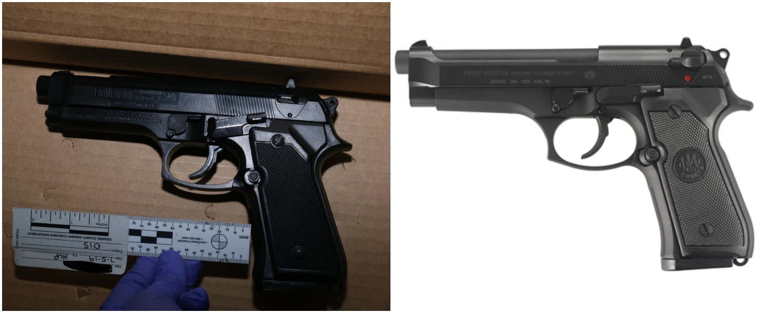 Hannah Williams replica gun