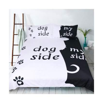 rheachoice dog side my side bedding set gifts for dog owners