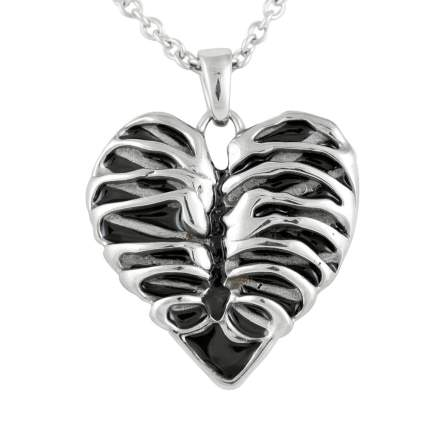 rib cage heart necklace xmas gifts for wife