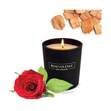 rose and sandalwood candle