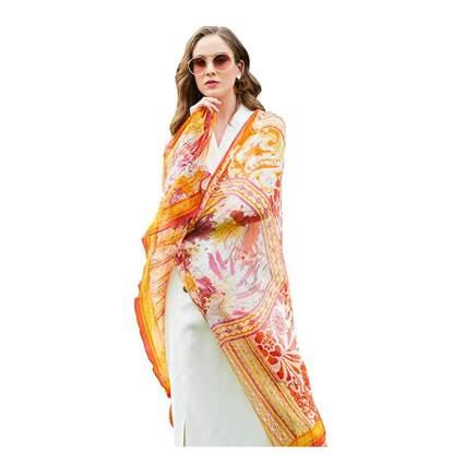 printed silk pashmina shawl