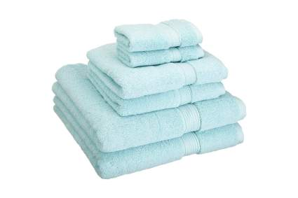 Light blue bath towel set