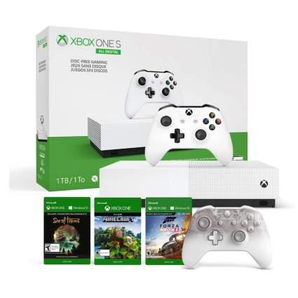 Xbox One S All-Digital Edition + Xbox Phantom White Controller