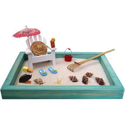 Mini sand box beach