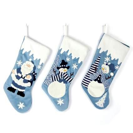 Luxury Velvet Applique Elegant Christmas Stockings