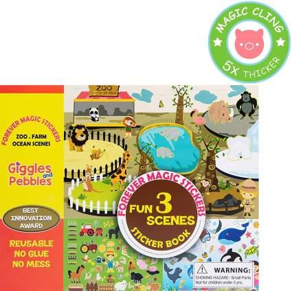 Giggles & Pebbles Educational Magic Sticker Pad Book