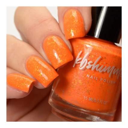 Pumpkin orange nail polish