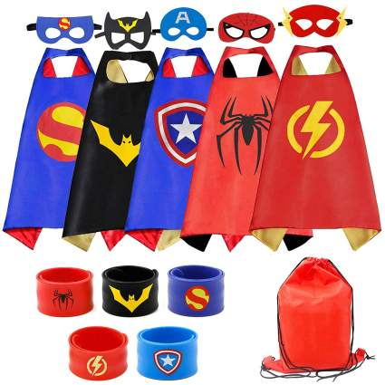 RioRand Superhero Capes Set and Slap Bracelets