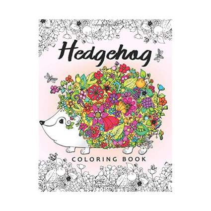 Coloring book with hedgehogs