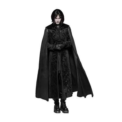 Goth in long black coat