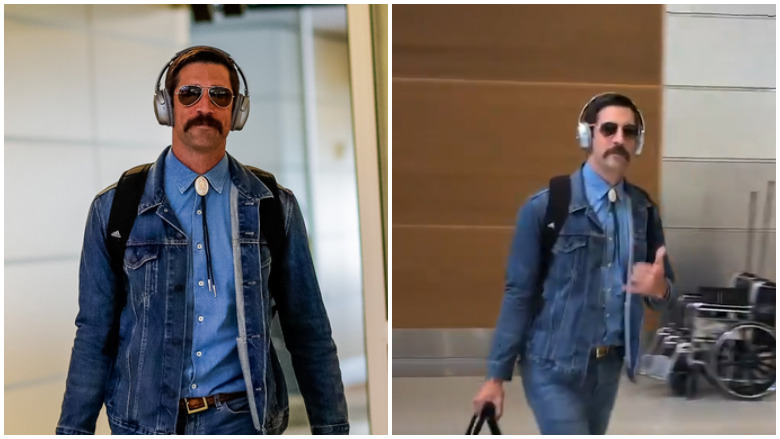Watch Aaron Rodgers With Mustache In Canadian Tuxedo Heavy Com
