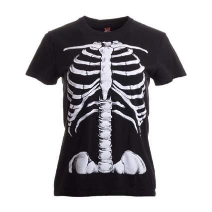 ann arbor t-shirt company rib skeleton halloween shirt