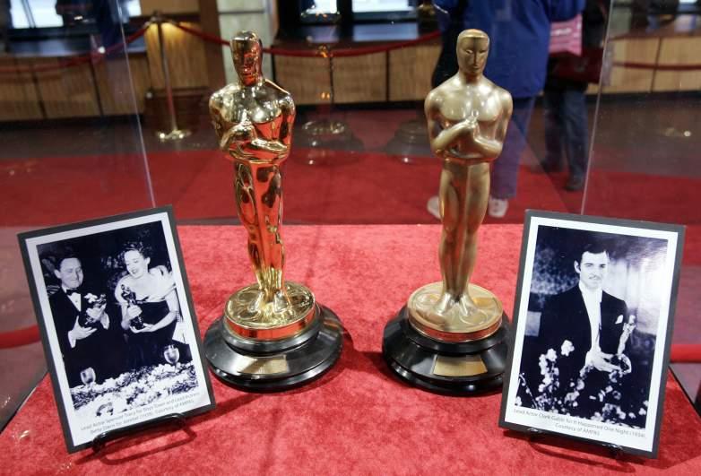 Bette Davis and Clark Gable Oscars On Display