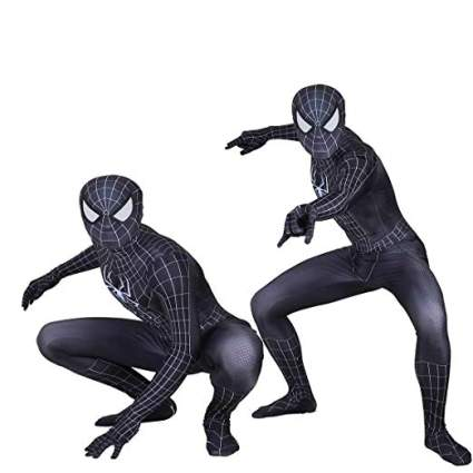 black spider-man suit