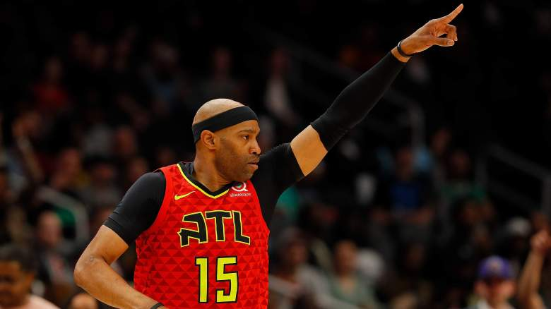 Vince Carter of the Atlanta Hawks.