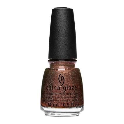 Bronze nail polish bottle
