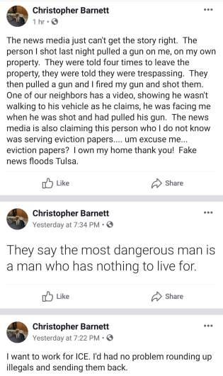 Chris Barnett Claiming Self Defense