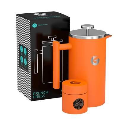 Coffee Gator French Press Coffee Maker & Travel Jar