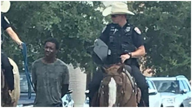 cops lead black man with rope