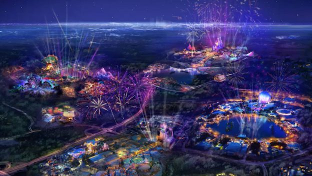 Artist Rendering Of Epcot After New Additions