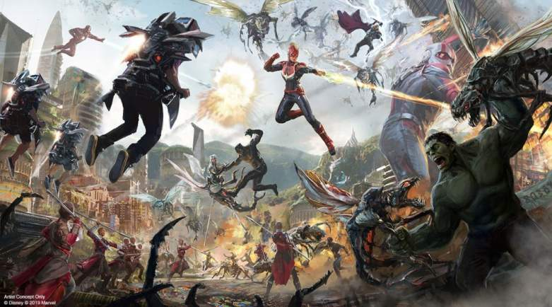 Artist Image Of Disney Parks Avengers Attraction