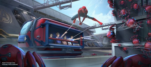 Artist Concept of Disney Parks Spiderman Ride
