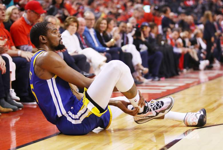 Kevin Durant ruptured his Achilles tendon in Game 5 of the NBA Finals on June 10, 2019.