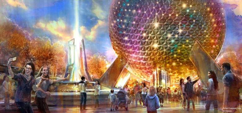 Artist Concept Of Spaceship Earth at Epcot
