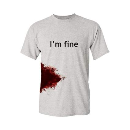 feelin good tees i'm fine halloween shirt