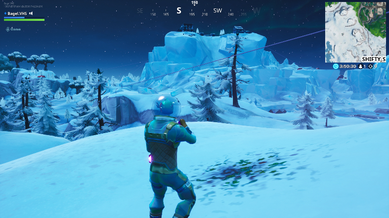 Fortnite Basement camera snowy stone head big rig