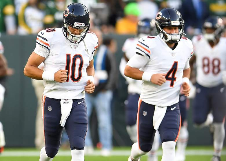 Bears Quarterbacks Mitchell Trubisky and Chase Daniel