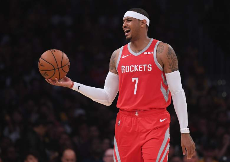 Carmelo Anthony appeared on ESPN's First Take on Friday and opened up about how he felt when he was released by the Rockets and his desire to still play the game.