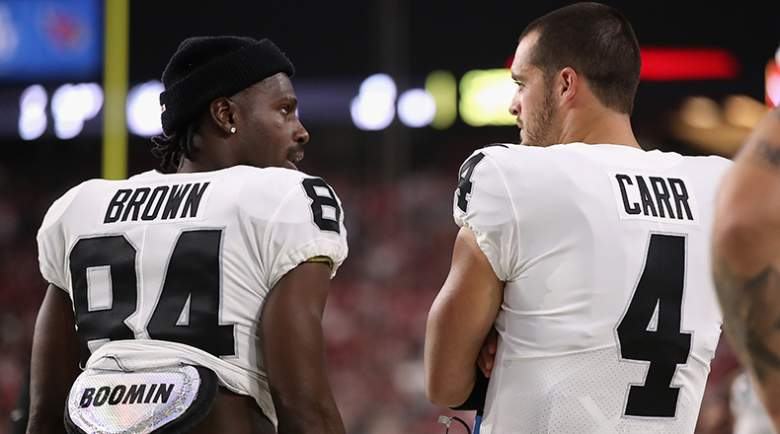 antonio brown derek carr