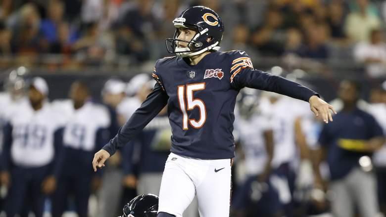 Chicago Bears kicker Eddy Pineiro