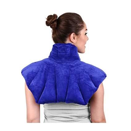purple microwaveable neck and shoulder pillow
