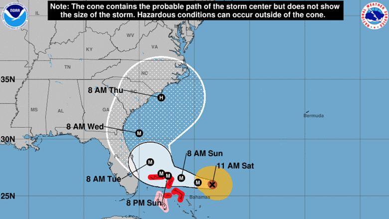 Hurricane Dorian's track