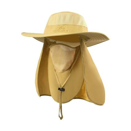 KOOLSOLY Outdoor Sun Cap With Removable Face Mask & Neck Flap
