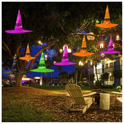 Light up witch's hats