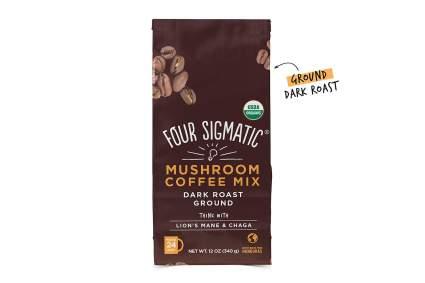 dark roast ground mushroom coffes