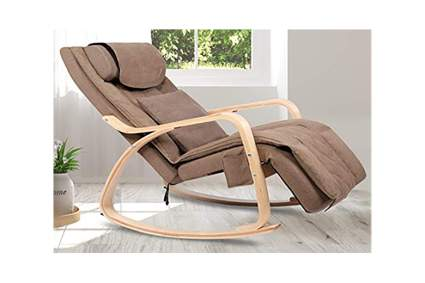 tan massage recliner rocker