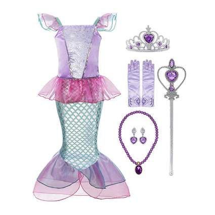 Little girls mermaid princess dress