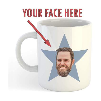 Personalized Star Face Mug office gadgets