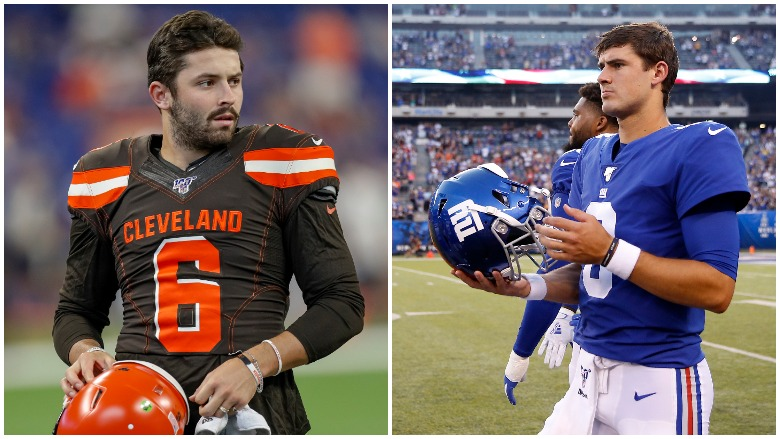 Cleveland Browns QB Baker Mayfield and New York Giants Rookie QB Daniel Jones