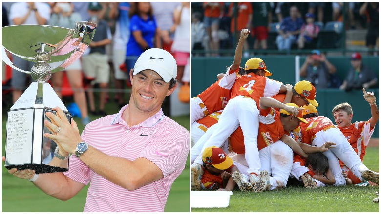 Rory McIlroy won the TOUR Championship to clinch the FedExCup title and Louisiana won their first-ever Little League World Series championship.