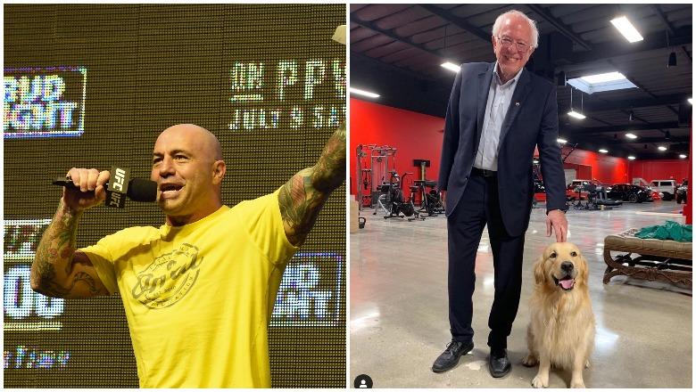 Joe Rogan and Bernie Sanders