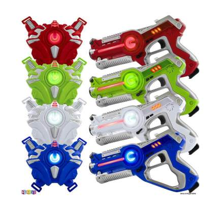 Play22 Laser Tag Sets Gun Vest - Infrared Laser Tag Set 4 Guns 4 Vests