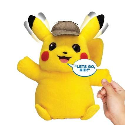 """Pokémon Detective Pikachu Movie Interactive Talking Plush - 2 Voice Modes - 12"""" - Ages 2+"""